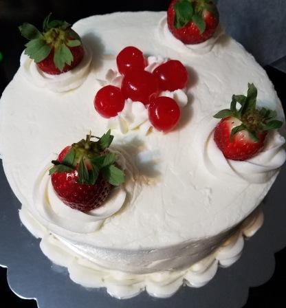 cheryy strawberry cake 1